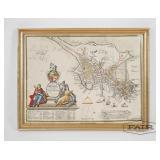 Framed Map of Boston