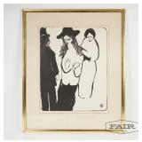 Framed lithograph by Nelson Giles
