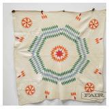 Lone Star Designed Cotton Quilt