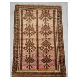Ombre Handmade Rug with Graphic Design