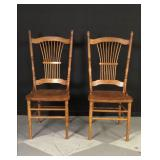 pair of oak Windsor chairs