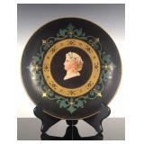 Antique hand painted plate with portrait