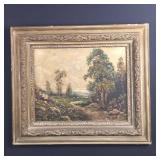 Antique oil painting in frame- signed