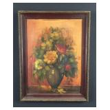Floral still life-signed  P. West