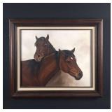 """Original oil, """"Companions"""", Cindy Faunte"""