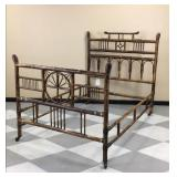 Antique bamboo double size bedframe