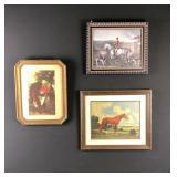 Lot of 3 equestrian prints