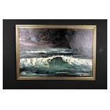 Vintage sea painting - CSepregi