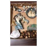Box lot- wolf figurines