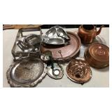 Silver plate and copper items