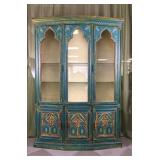 Tall Hand Painted China Cabinet