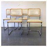 Lot of 4 Chairs with chrome legs