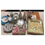 Box lot of dishes and porcelains