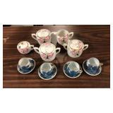 Noritake set with Geisha Teacups