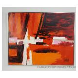 Large Lee Reynolds Abstract Oil on Canvas