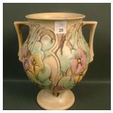 "Roseville Tan Morming Glory 9 1/2"" Vase"