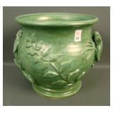 G.L. Howell Grn Glaze Lizard Vase