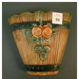 "Weller Brown Wood Rose 5 1/2"" Wall Pocket"
