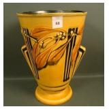 "Roseville Yellow Laurel 10"" Vase"