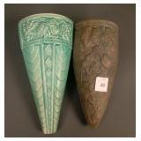Pair of Pottery Wall Pockets