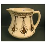 Roseville Cream Ceramic Design Cider Pitcher