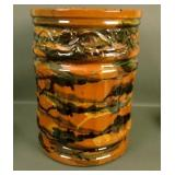 Rare Peters & Reed Marbelized Decorated Sand Jar