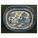 Buffalo Pottery Blue/White Willow Platter