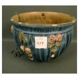 Weller Blue Drapery Hanging Basket
