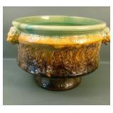 Early Roseville Brown Lion Head Sand Jar