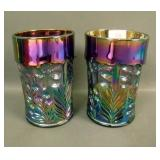 Pair of LIG Purple Tiger Lily Tumblers