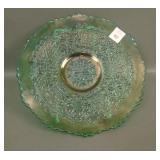 """Fenton Green Leaf Chain 9"""" Plate"""