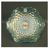 Westmoreland Blue Opal Scales Ruffled Bowl