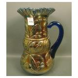 Fenton Blue Lily of the Valley Water Pitcher