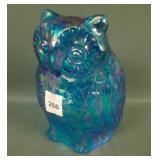 Fenton Contemporary Sapphire Figural Owl