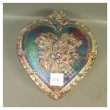 Fenton Purple Strawberry Heart Shape Box