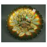 N Peacock at the Urn Lg. Ice Cream Bowl – Green