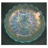 N Peacock at the Urn Lg. Ice Cream Bowl – Ice Blue