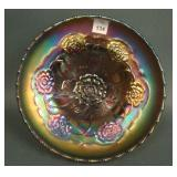 """8"""" Dugan Double Stem Rose domed Deep Round Bowl –"""