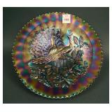 """9 3/8"""" N Peacocks Stippled Plate w/ Ribbed Ext."""