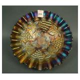"""8 1/2"""" N Grape and Cable Stippled Bowl w/ PCE and"""