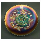 """9"""" N Strawberry Flared Plate w/ Basketweave Ext. –"""