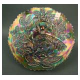 """9 1/2"""" Fenton Peacock at the Urn Flared Plate –"""