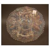 """9 1/4"""" Fenton Peacock at the Urn Flared Plate –"""