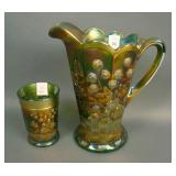 N Raspberry Handled Water Pitcher and (1) Tumbler
