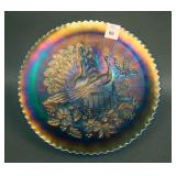 """9"""" N Peacocks Stippled Plate w/ Ribbed Ext. and"""