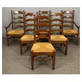 6x Well Built Pine Ladder Back Chairs