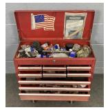 Metal Tool Box - 9 Drawer Includes Contents.
