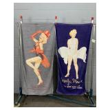 2x Marilyn Monroe Beach Towels