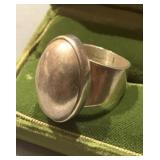 Vintage Chunky Sterling Silver Ring Size 8 -