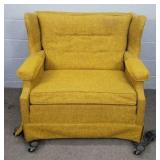 Mid-century Super Wide Upholstered Chair